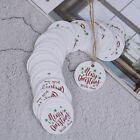 100PCS Letter Merry Christmas Kraft Paper Gift Tags with Jute Twine DIY Cra OJ
