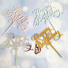 1PC Acrylic Happy Birthday Cake Topper Cupcake Cake Decoration Party Supplies