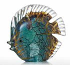 Fish Glass Sculpture Colorful Spotted Tropical Modern Art Home Decoration Gift