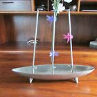 Ultra Modent 3 Stem Orchid Stand Vase in 12 Boat Shaped Base Hand Crafted