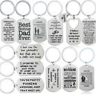 Word Dog Tag Pendant Keychain Gifts Couple Friend Family Dad Husband Boyfriend