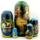 Nativity of Christ Christmas Russian Icon Dolls Set of 5 Dolls 7x3 1 2