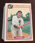 1983 Donruss Hall of Fame Heroes 44-Card Baseball Set - Ty Cobb Mickey Mantle