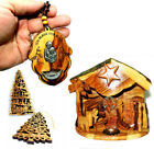 Xmas Gift Pack Christmas Music Nativity Olive Wood ORNAMENTS God Bless our home