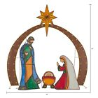 Light Up LED Metal Look Nativity DISPLAY SCENE Set Outdoor Christmas Dcor YARD
