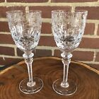 Rogaska Gallia Set of 2 Wine Glasses 7 3 4 Tall Cut Crystal Stemware