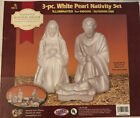 General Foam Plastics Pearl White Christmas Nativity Lighted Blow Mold Outdoor