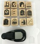 Stampin Up Paper Shapers Tag Stamp With 12 Stamp Set
