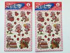 Vintage Strawberry Shortcake Stickers 1998 New 2 Sealed Packages