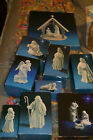 1980s Avon Porcelain Bisque Nativity Set 10 pc w Boxes  Stable Very Nice