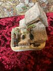 David Winter Cottages - The Shires Lot Of 7 Christmas Holiday Collectible