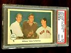 1959 Fleer #75 Ted Williams (Ted's Value to Sox) (Ted w Babe Ruth) - PSA 8 (NM)