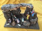 Vintage Nativity Creche With Attached Figures Made In Italy
