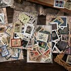 46PCS Vintage Stamps Stickers Kawaii Stationery DIY Scrapbooking Diary Stickers