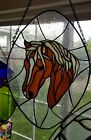 Stained Glass Sun Catcher Horse Head Window Hanging