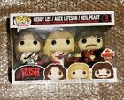 Funko Pop Rocks Rush Exclusive 2018 Fan Expo Canada Three (3) Pack w Sticker