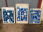1970s 80s Ford Fordson Tractor Service Boards