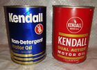 2 Full NOS KENDALL Quart Motor Oil Cans Gas Service Station - Sinclair Texaco