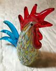 Hand Blown Italian Murano Rooster Speckled 575 Multi Colored Mint Exquisite