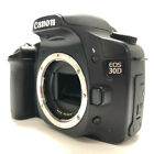 Canon EOS 30D 82MP Digital SLR Camera Black Body Only Charger and Battery Strap