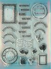 Mail Postage Collection CLEAR Unmounted Rubber Stamp Set Leane Creatief 552816