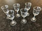 Lot 6 Vintage Fine Crystal Stemware 2 oz Cordial Glasses Swirled Stem