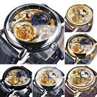 Men's Leisure Watch Hollow Moon Phase Carved Automatic Mechanical Waterproof