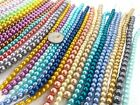 Glass Pearls Bulk Lot 10 lbs Beads Glass Mix Size Color Wholesale Round DIY