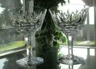 Stuart Crystal England Abbey Champagne Tall Sherbet Glasses Set of Two