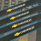 4PCS Black Rubber Car Door Scuff Sill Cover Panel Step Protector For Chevrolet
