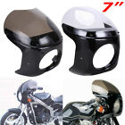 7'' Motorcycle Cafe Racer Headlight Fairing Windshield For Harley Honda Yamaha