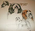 Bearded Collie T shirt  White  2XL  50 52