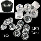 10x Reflector Collimator Led Lens Waterproof 20mm 15306090120 Degree