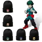 Men's Warm Knitted Beanie Hats Winter Caps Unisex My Hero Academia Pattern dfe