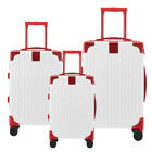 20 24 28Hard Shell Cabin Suitcase Luggage Trolley Case Lightweight White red