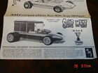 AMT George Barris' Surf Woody Model Kit instruction sheet /sheets / book 2166-6