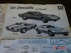 MPC 1968 Chevrolet Corvette Model Kit instruction sheet /sheets / book
