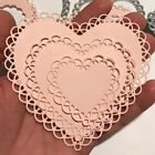 Lace Heart Metal Cutting Dies Stencil Scrapbooking Stamps Embossing DIY Craft