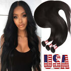 Straight 1/2/3 Bundles 100% Virgin Human Hair Extensions Weave Weft Brazilian Q8
