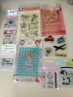LOT 2 OF CLEAR ACRYLIC RED RUBBER STAMPS 22 BRAND NEW SETS
