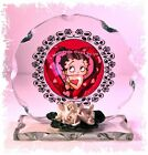 Betty Boop I want to be loved by you Birthday Gift Cut Glass plaque Ltd 1
