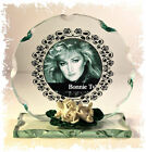 Bonnie Tyler Photo Cut Glass Round Plaque Special Limited Edition 7