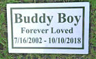 CUSTOM ENGRAVED STONE PET MEMORIAL HEADSTONE DOG CAT GRAVE MARKER PLAQUE