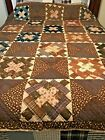 ESTATE QUILT MADE IN 1880s Antique Quilt Hand Stitched 66x76
