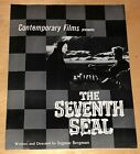 The Seventh Seal Film Poster Ad Ingmar Bergman Movie Max Von Sydow Bengt Ekerot