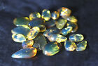 Dominican Clear Deep Blue Green Amber Stones