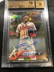 2018 Topps Chrome Update Ronald Acuna Jr. GOLD Refractor Auto RC # 50 BGS 10 10
