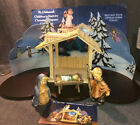 Hummel Childrens Nativity Set Mary Joseph Jesus  Stable  Base No Box