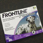 Genuine Frontline Plus for Dogs 45 to 88 pounds Flea Tick Treatment 3 doses