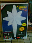 Vintage Lighted Empire Giant 39 Nativity Star Blow Mold Christmas Display w Box